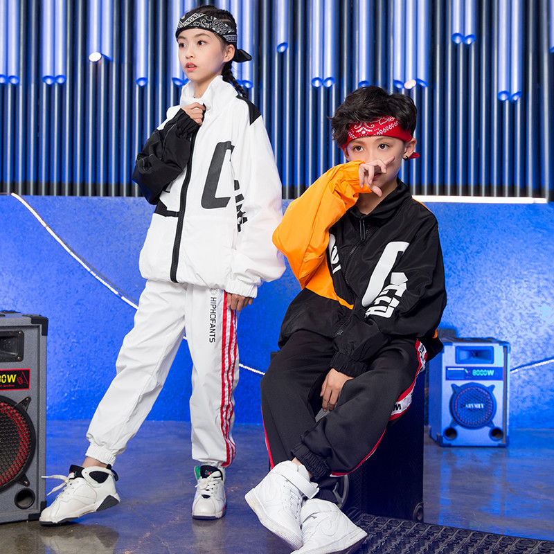 Kids Hip Hop Set Fashion Children Jazz Dance Costume Loose Boys Girls Street Dance Rave Clothes Casual Sports Clothing DC1094