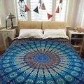 Индийский Мандала Гобелен Стене Висит Boho Пляж Полотенце Шарф Платок Yoga Коврик Покрывало Home Decor Полиэстер 210*148 см