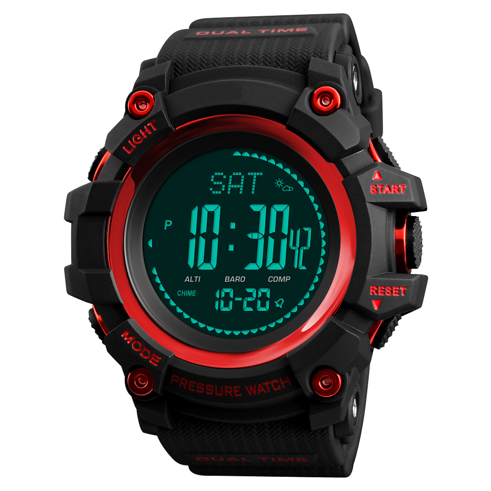 New Men's Outdoor Sport Watches Pedometer Altimeter Barometer Compass Waterproof LED Digital Wrist Watch Clock Relogio Masculino spovan sport watch men waterproof led compass altimeter pedometer digital wrist watch clock saat montre homme relogio masculino