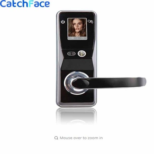 אלקטרוני דלת מנעול מתקדם חכם זיהוי פנים דלת מנעול אבטחה דיגיטלי מגע מסך Keyless פנים חכם דלת מנעול