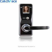 Serrure de porte électronique intelligente à verrouillage de sécurité, écran tactile numérique, sans clé, à reconnaissance faciale intelligente