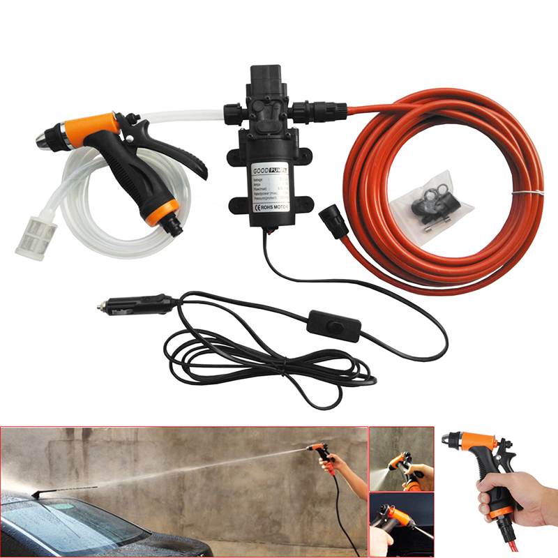Free delivery New 1 Set Portable 100W 160PSI High Pressure Auto Car Electric Washer Set Wash