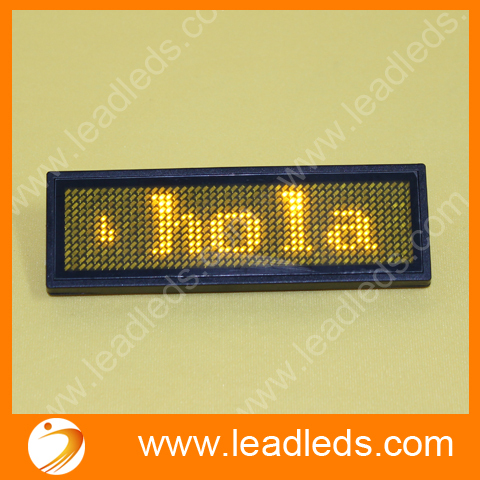 Led Scrolling Message Badge Support  Spanish And Other Multi Languages