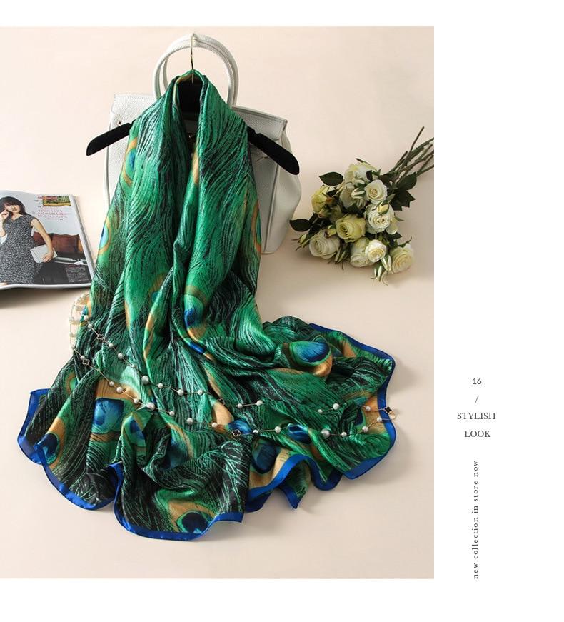 [Peacesky] Жаңа сәнді дизайнер Silk Scarfs - Киімге арналған аксессуарлар - фото 2