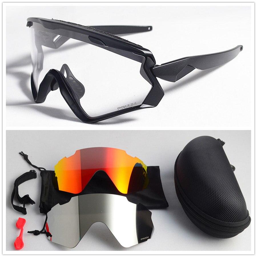 Photochromic Cycling Glasses 3 lens UV400 Bicycle Cycling Sunglasses Men Women Sport Road Bike Cycling Eyewear