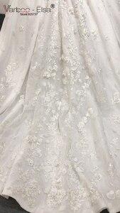 Image 5 - Роскошное белое кружевное свадебное платье varboo_эльза 2018 с 3D аппликацией, свадебное платье по индивидуальному заказу, женское свадебное платье