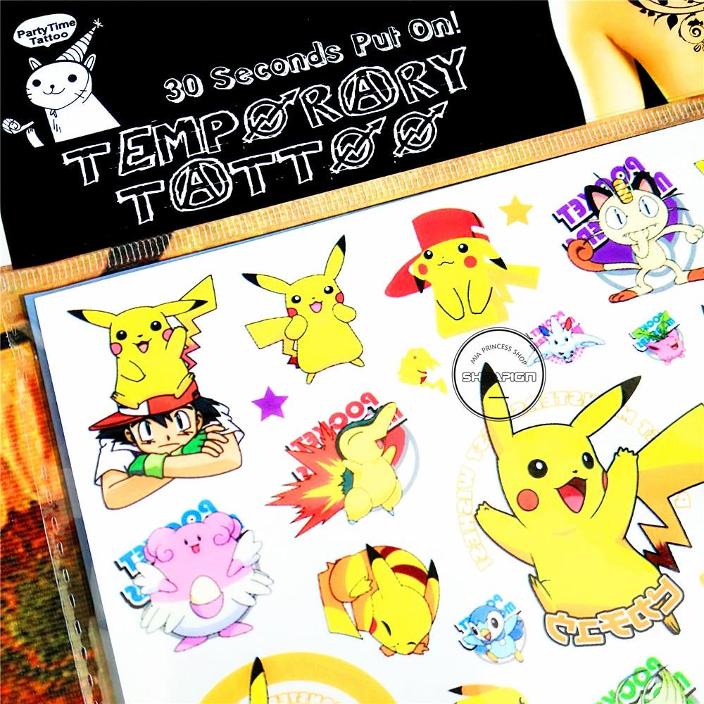 SHNAPIGN Pokemon Go Child Temporal Body Art Flash Tattoo Sticker 10 * - Tatuering och kroppskonst - Foto 3