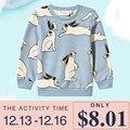 2016 Do Inverno Do Bebê Das Meninas Dos Meninos Tops & T T-shirt Impressão Coelho Camisola Caçoa o Coelho Animais Outono Enfanty Crianças T Camisas