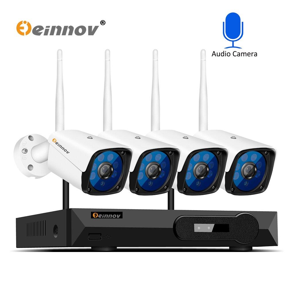 Einnov 5MP H.265 Casa Senza Fili del CCTV Wifi della Macchina Fotografica di Sistema di 1080 P 2MP Video Kit di Sorveglianza NVR WI-FI Sistema di Telecamere di Sicurezza di Vista di IR