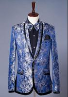Blue Star Formal Dress Marriage Suits Blazer Slim Mens Blazers Set Groom Married Costume Banquet Man