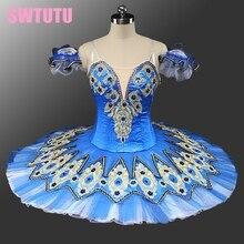 Adult blue bird Swan Lake Professional Ballet tutu costumes omen's Platter Stage Performance Tutu cassical TutuBT9132C
