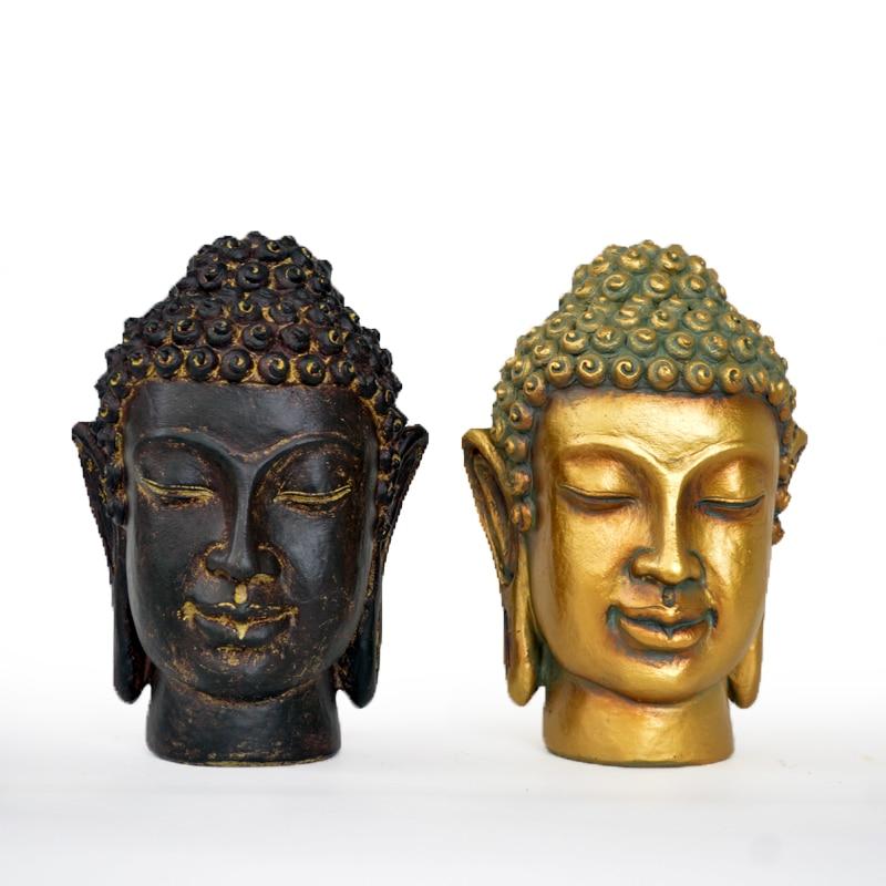 Zen Malé sochy Buddhy Buddha Thajsko Jihovýchodní Asie Moderní čínská domácí sochařská výzdoba Řemesla Dekorace obývacího pokoje