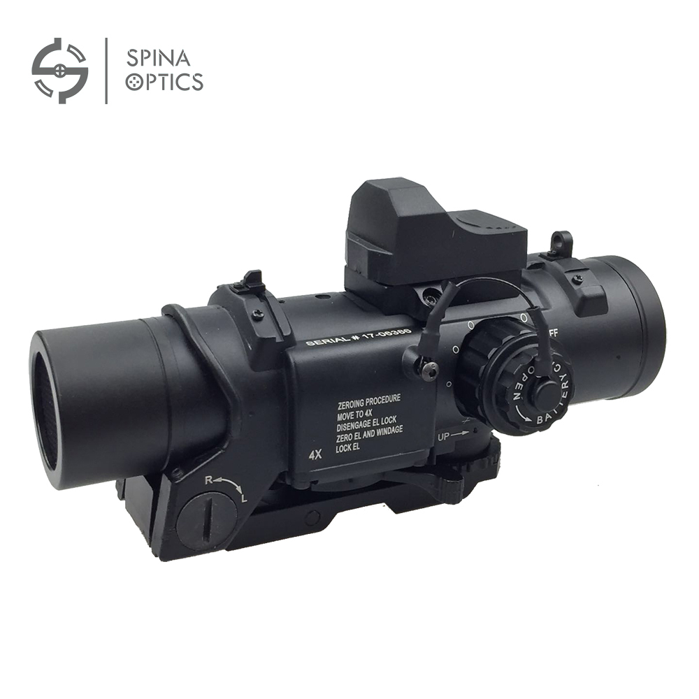 SPINA Tactical 4x Fixed Dual Purpose Scope With Mini Red Dot Scope Red Dot Sight For Rifle Hunting Shooting CS Battle And Hunter tactical m4 1x33 red dot collimating sight with red and green illumination for hunting shooting hunting