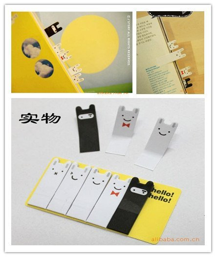 Free shipping 100sheets/set cute Enduring rabbit sticky note sticky Scratch note Memo message post 100set/lot Wholesale