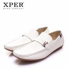 73d34570ff XPER marca nuevos zapatos casuales de cuero zapatos de moda de los hombres  zapatos cómodos mocasines de los hombres de calzado z.