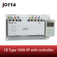 New type changeover switch 100A 4 poles 3 phase automatic transfer switch ATS with English controller|switch hazard|switch blower|switch lock -