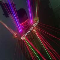 TT01 Green Blue Red Color Laser Vest LED Bar Party Props Costumes Performing Luminous Clothing Ballroom