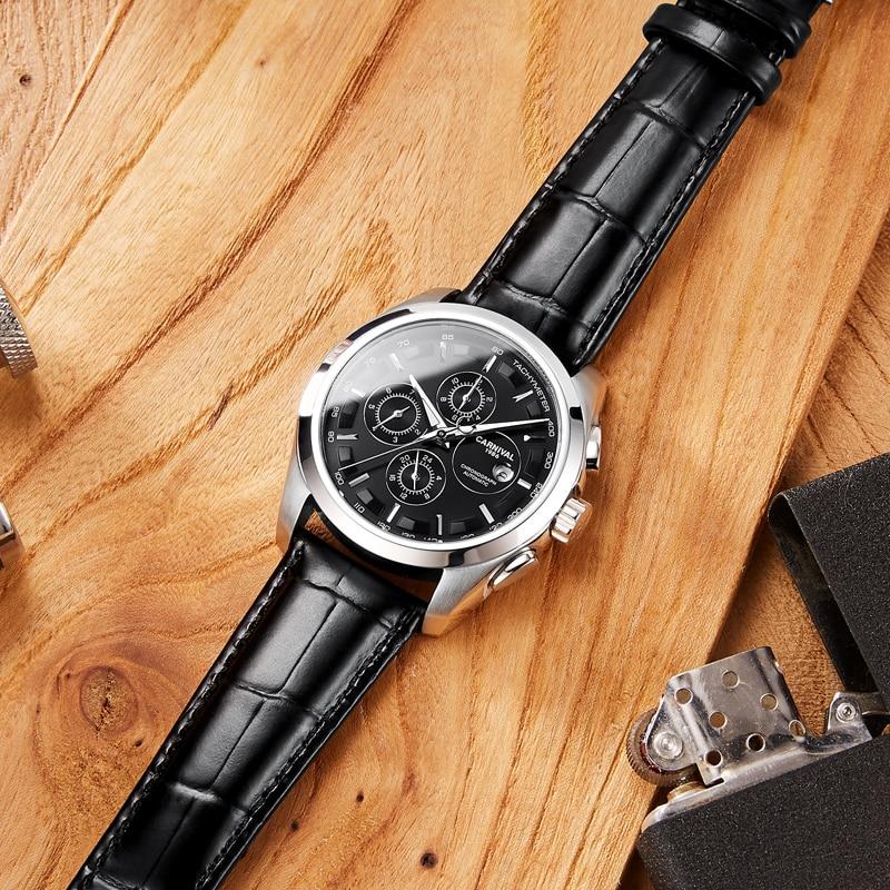 erkek kol saati mekanik otomatik orologio automatico horloge heren automatic watches men luxury leather montre homme