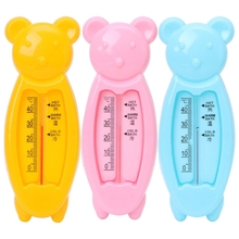 Baby Infant Lovely Plastic Floating Bear Bathtub Water Sensor Thermometer Tester baby s cute tiger style bathtub bathing water thermometer orange yellow black