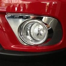 цена на ABS Chrome Car Front Fog Light Lamp Foglight Cover Trim fit for dodge journey fiat freemont 2011 2012 2013 2014 2015 2016 2017