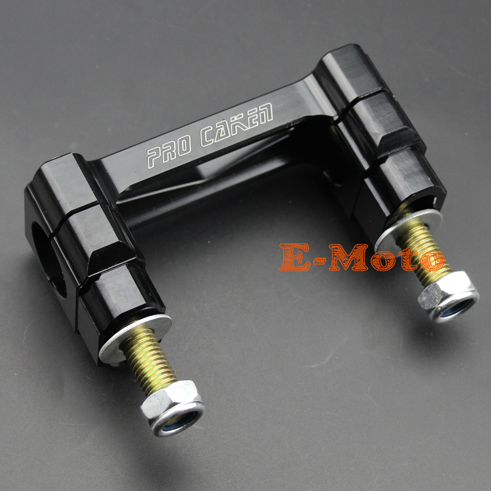 "Black CNC Billet 1 1/8"" 28mm HandleBar Fat Bar Riser Mounts Clamps For CR125 250 CRF250 450 ..."