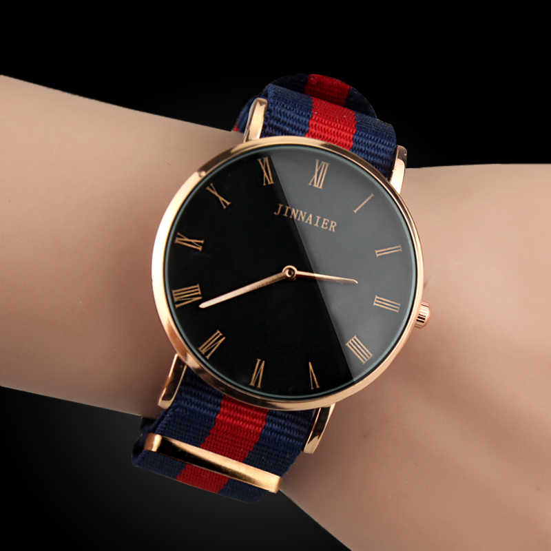 Luxury High Quality Women Watches Sports Nylon Strap Men Analog Quartz Watch 2019 NEW Design Classic Clock Relogio Masculino