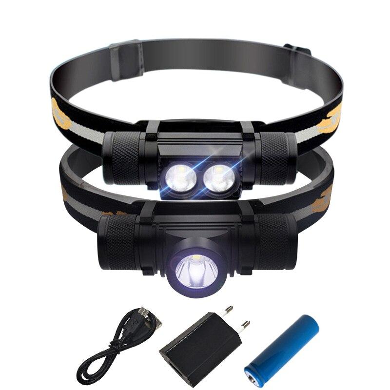 2 CREE XM-L2 LED Projecteur USB De Charge Interface Vélo Phare 9 Mode Gradation Tête Torche Camping Pêche De Poche