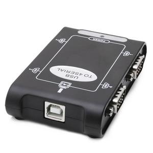 Image 3 - 9pin RS232 USB 2.0 כדי 4 יציאות סידורי DB9 COM בקר מחברים מתאם רכזת