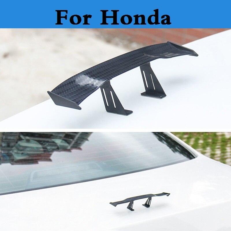 Car Stickers Mini Cute Lovely Aluminium Alloy Decorative Spoiler Wing For Honda Fcx Clarity Fit Fit Aria Hr-v Insight Inspire Integra Jazz Harmonious Colors