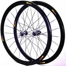 Cosmic Road bike V ruedas de freno 700c 40mm aleación de aluminio juego de ruedas de bicicleta 20H llantas