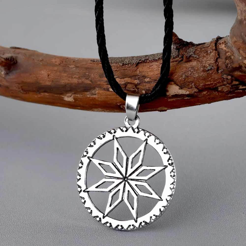 Cxwind Alatyr ב את מעגל שרשרת תליון אתני תכשיטי ויקינג תליוני קסם קמע הגנת סלאבית סימנים תכשיטים
