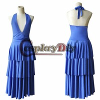 Custom Made Twilight Bella Swan Blue Fancy Prom Dress Costume Adult Women Dance Party Movie Cosplay