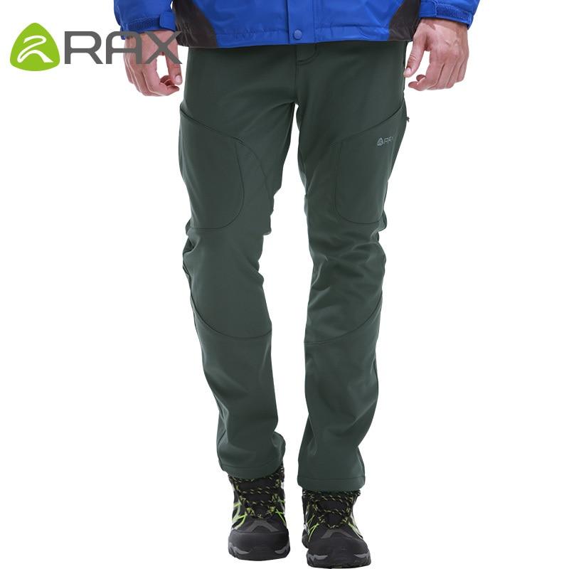 Rax Waterproof Windproof Outdoor Hiking Pants Men Softshell Pants Men Military Sport Trousers Man Hiking Trekking