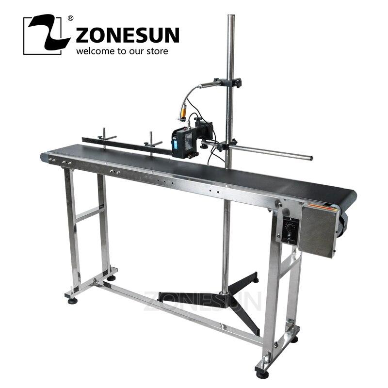 ZONESUN струйный принтер конвейера транспортировать Таблица Группа перевозчика сортировки Workbench лента из ПВХ Емкость на подставке коробке нак