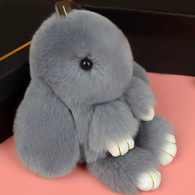 Super Macio Inverno Coelho Bonito Fur Jogar Dead Chaveiros Pom Boneca de Brinquedo coelho Saco Carro Ornamentos Pendurados Acessórios de Jóias em venda