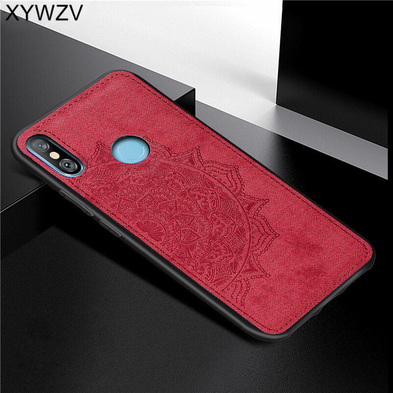 Xiaomi Redmi Note 6 Pro Shockproof Soft TPU Silicone Cloth Texture Hard PC Phone Case Redmi Note 6 Pro Cover Redmi Note 6 Pro-in Fitted Cases from Cellphones & Telecommunications
