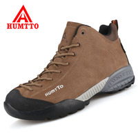 HUMTTO Men and Women Hiking Boots Winter Warm Snow Boots Outdoor Waterproof Mountain Climb Trekking Shoes Couples Hiking Sneaker