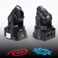 Ship From Germany 2x Moving Head 15W DMX Mini LED Stage Party DJ Disco Club Spot