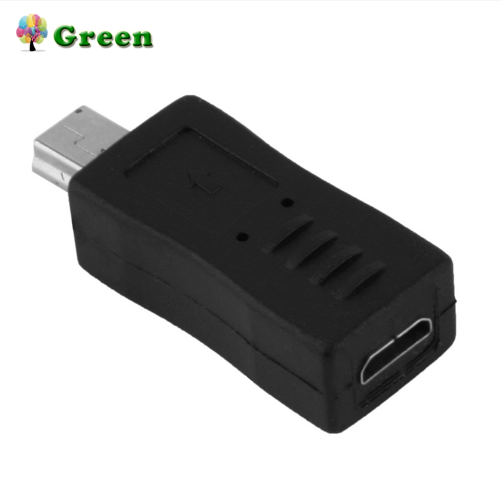 Portable And Stylish Black Color Micro USB Female To Mini USB Male Adapter Converter Convenient To Use