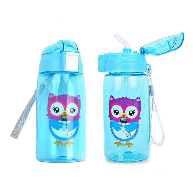 520 мл пластиковая чашка C трубочкой, детская чашка для кормления, портативная детская бутылка для воды, обучающая Питьевая чашка с веревкой, бутылка для молока, BPA бесплатно