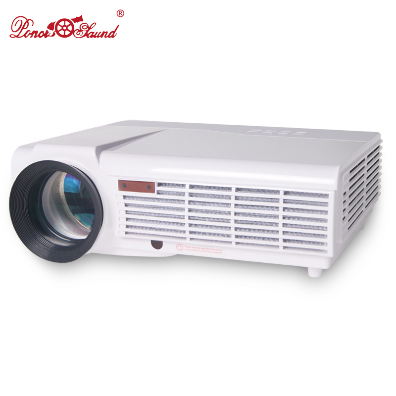Prix pour Poner saund projecteur 5500 lumens home cinéma led 1080 p hd 3d Projecteurs LCD pc avec 2 HDMI VGA 2 * USB AV Meilleur Accueil protecteur