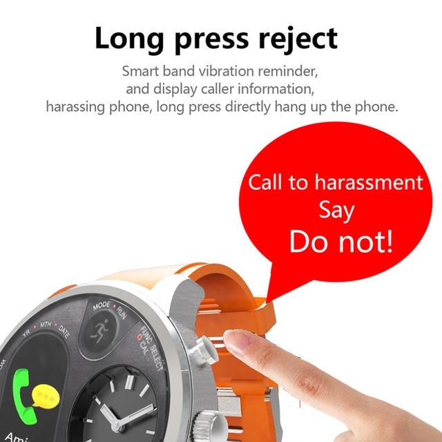 Blood Pressure & Heart Rate Monitor Pedometer Waterproof Smart Watch 3