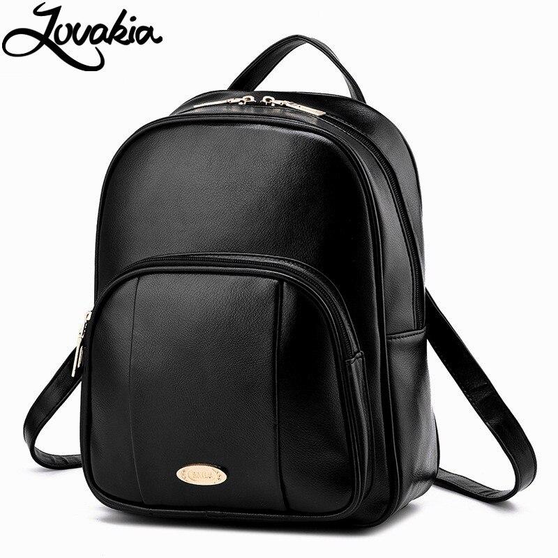 ФОТО 2017 NEW Fashion Backpack Women Backpack Leather School Bag Women Casual Style Bagpack Mochila