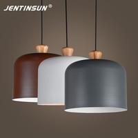 Nordic Styl Kapelusz Cień Pendant Light Proste Aluminium Oprawa Światła LED Lampy Wiszące Wewnątrz Domu dla Bar Licznik Restauracji Lampy