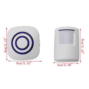 Image 3 - Беспроводной инфракрасный датчик движения дверной звонок Сигнализация колокольчик с вилкой EU/US 3 батарейки AAA в комплект не входят