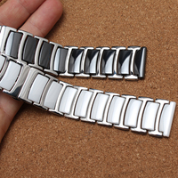 Ceramic white watchbands 20mm 22mm Strap Straight End Solid Links watch accessories for Wrist watch BRACELETS promotion New 2017