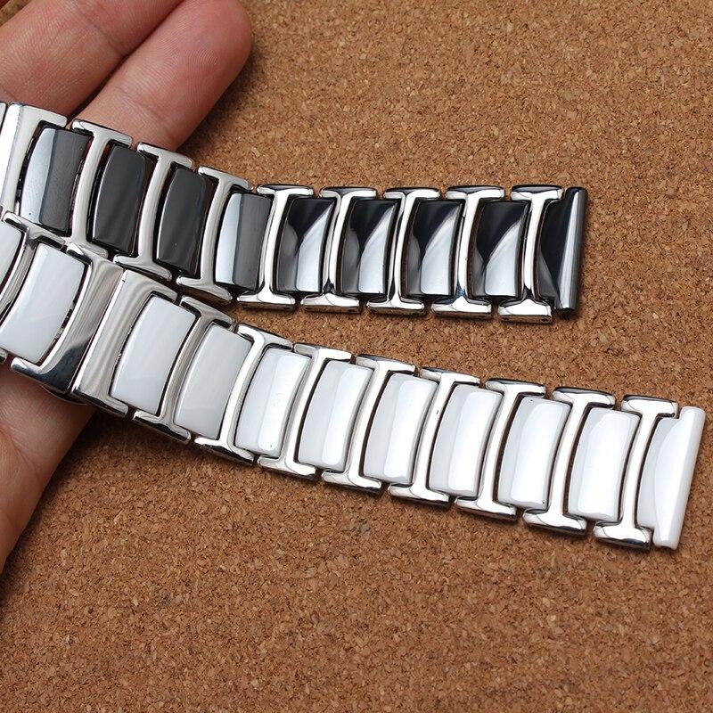 Ceramica bianca cinturini 20mm 22mm Strap Etero End Links Solid watch accessori per orologio Da Polso BRACCIALETTI di promozione Nuovo 2017