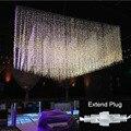 Conectável ao ar livre 3x3 m led string casamento luz fada luz led garden party casamento guirlanda de natal luz decorativa