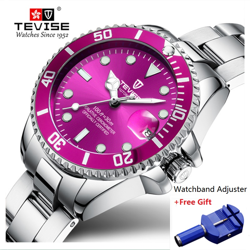 Brand TEVISE Quartz Women Watches Waterproof Bracelet Stainl