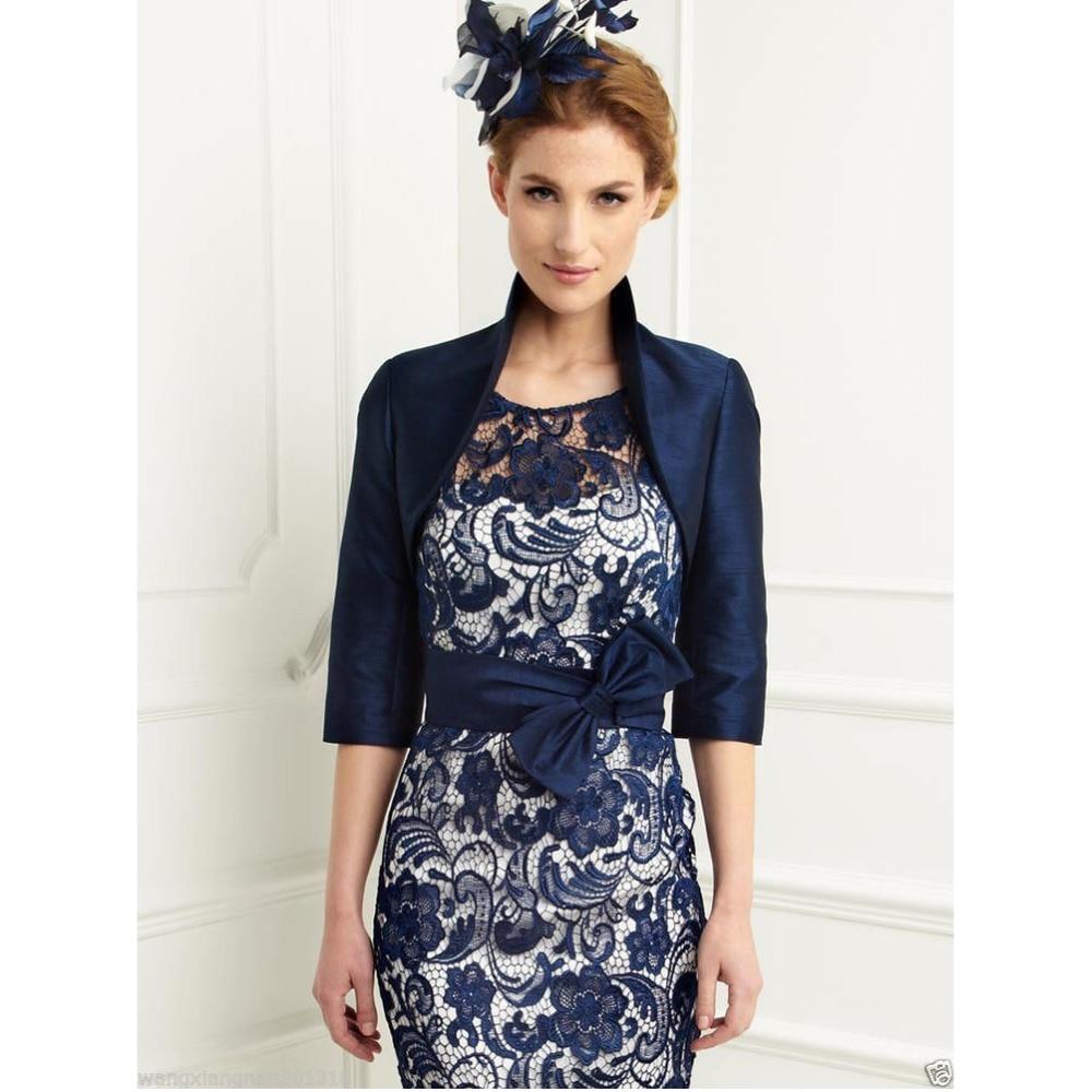Chaqueta para vestido azul oscuro